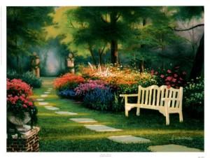 Bench In A Garden
